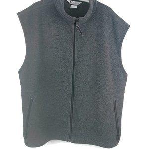 Columbia Fleece Vest Mens Size 2XL Gray Zippered